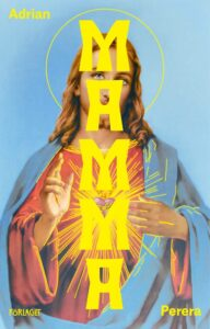 Cover of Mama by Adrian Perera depicting Jesus with a broken heart